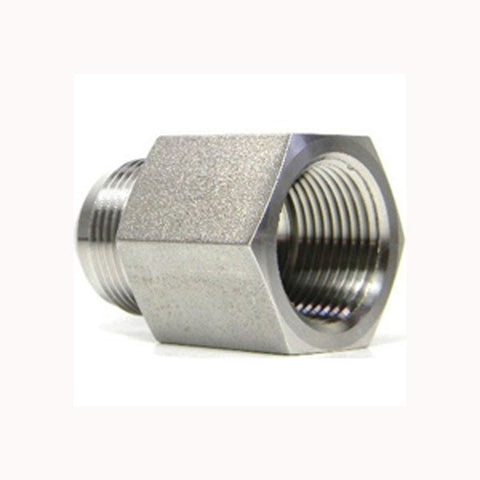 "Stainless Steel Reducing Coupler For Chugger Center Pumps (3/4"" FPT x 1/2"" MPT threads)"