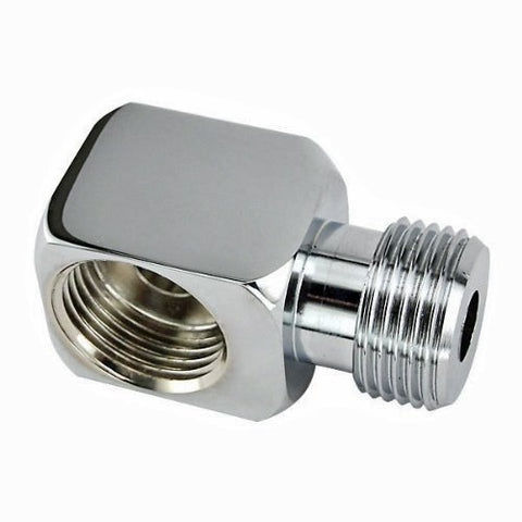 Chrome Plated Brass Keg Coupler Elbow 90° Angle