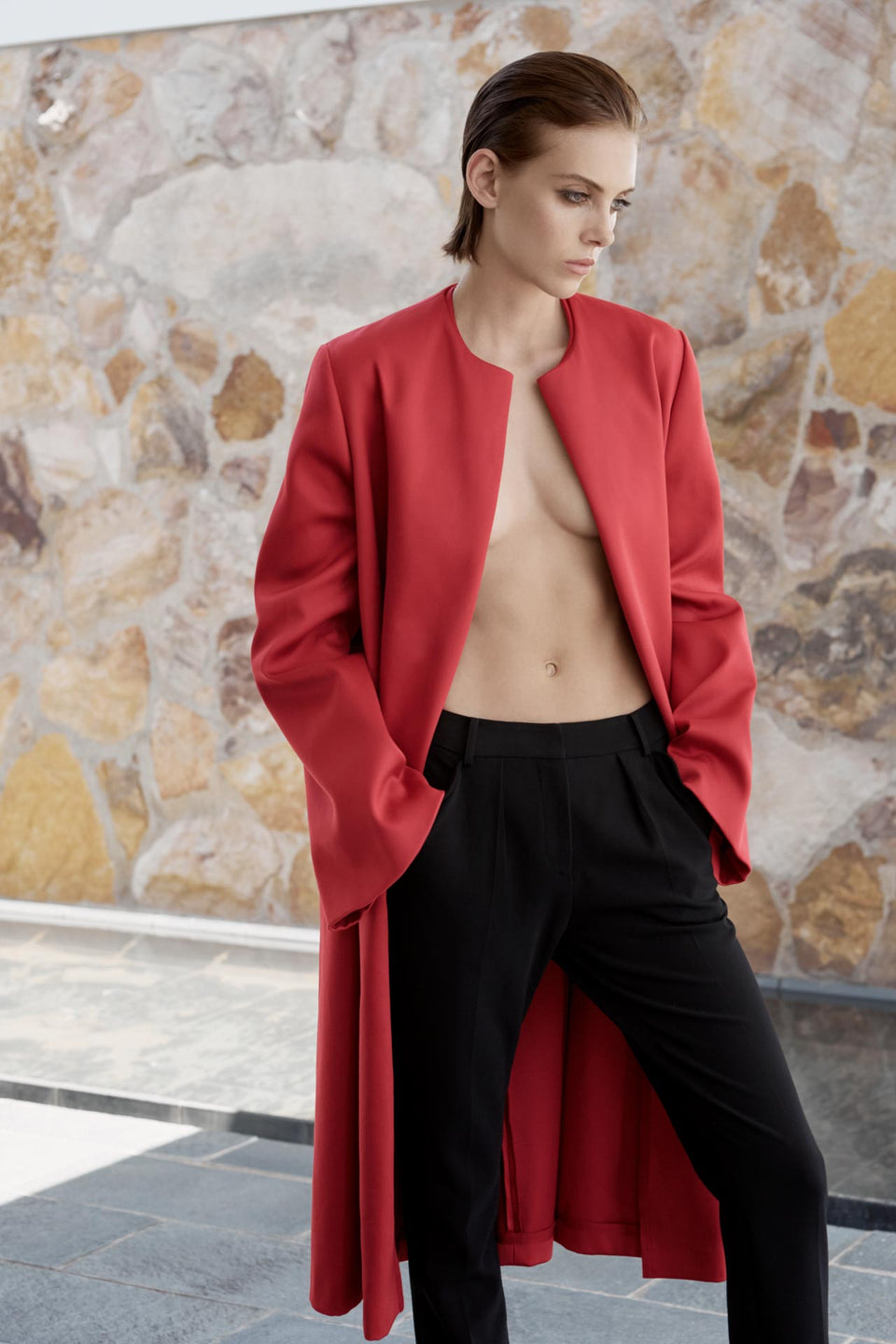 CARL KAPP AW2019 collection in Sydney Australia | Proteus Red Coat