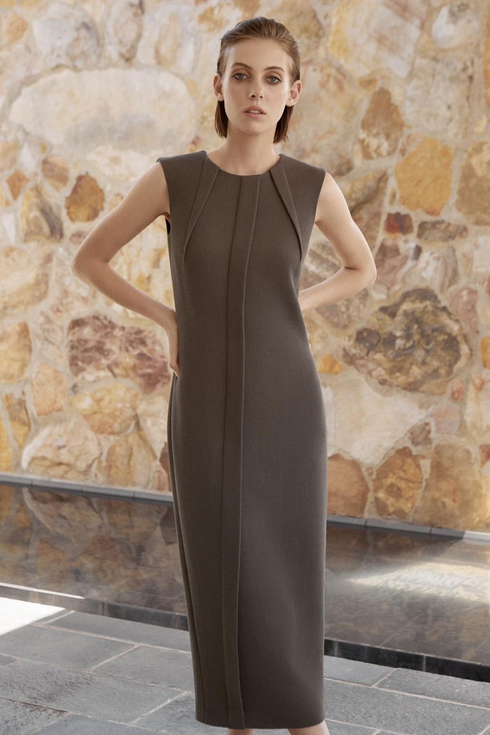CARL KAPP AW2019 collection in Sydney Australia | Starling Wool Crepe Dress