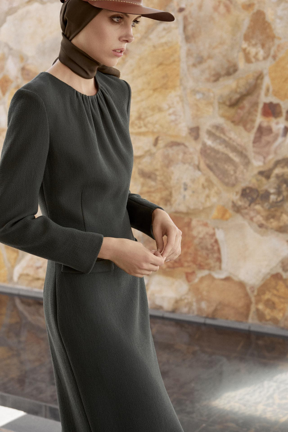 CARL KAPP AW2019 collection in Sydney Australia | Erin Wool Crepe Dress