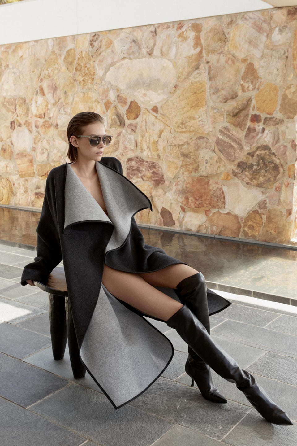 CARL KAPP AW2019 collection in Sydney Australia | Lapetus Double Faced Wool Coat