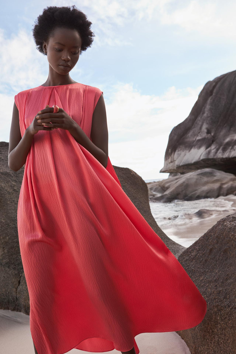CARL KAPP SS2020 collection in Seychelles Six Senses Zil Pasyon | Anne dress
