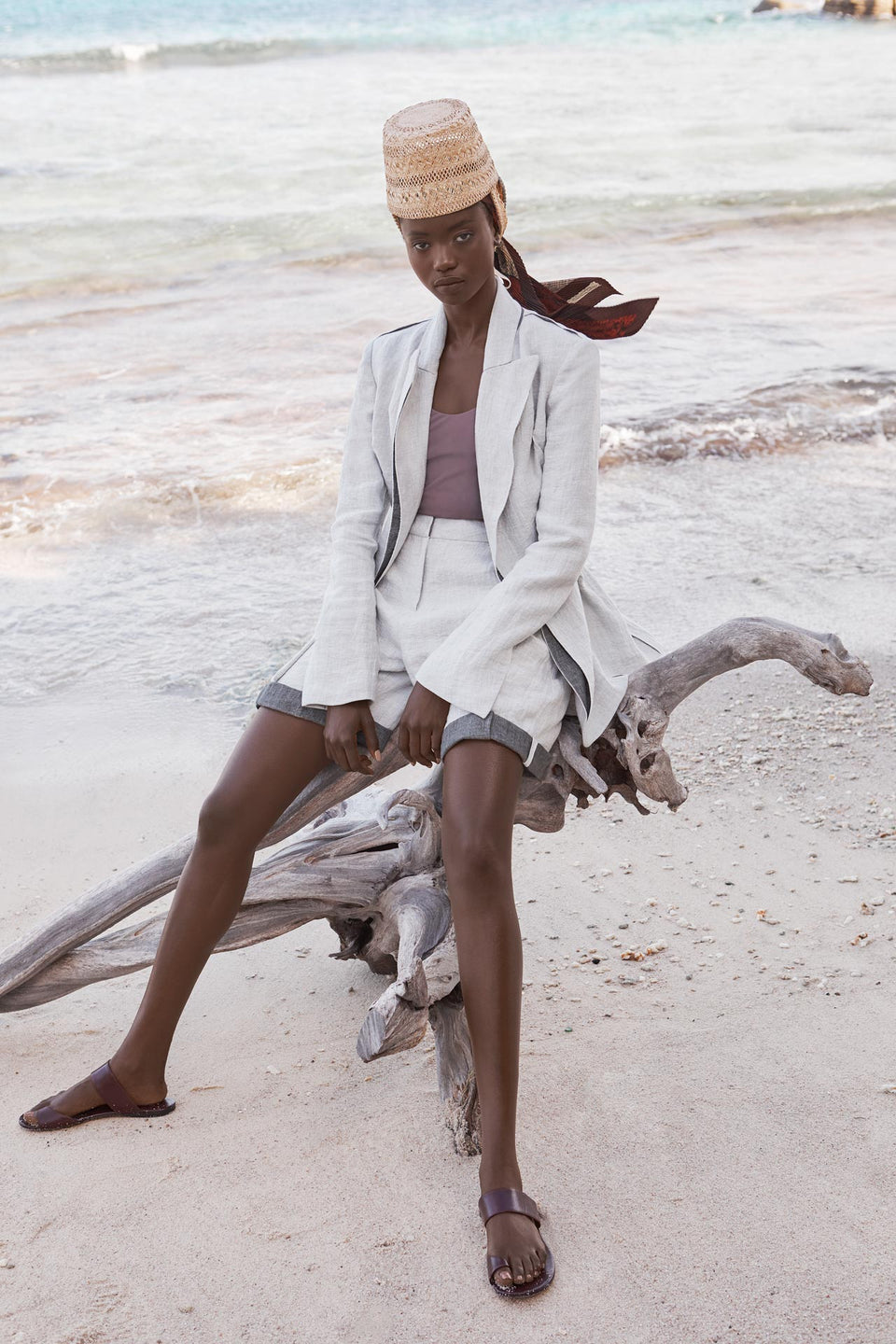 CARL KAPP SS2020 collection in Seychelles Six Senses Zil Pasyon | Morne jacket, Anse shorts