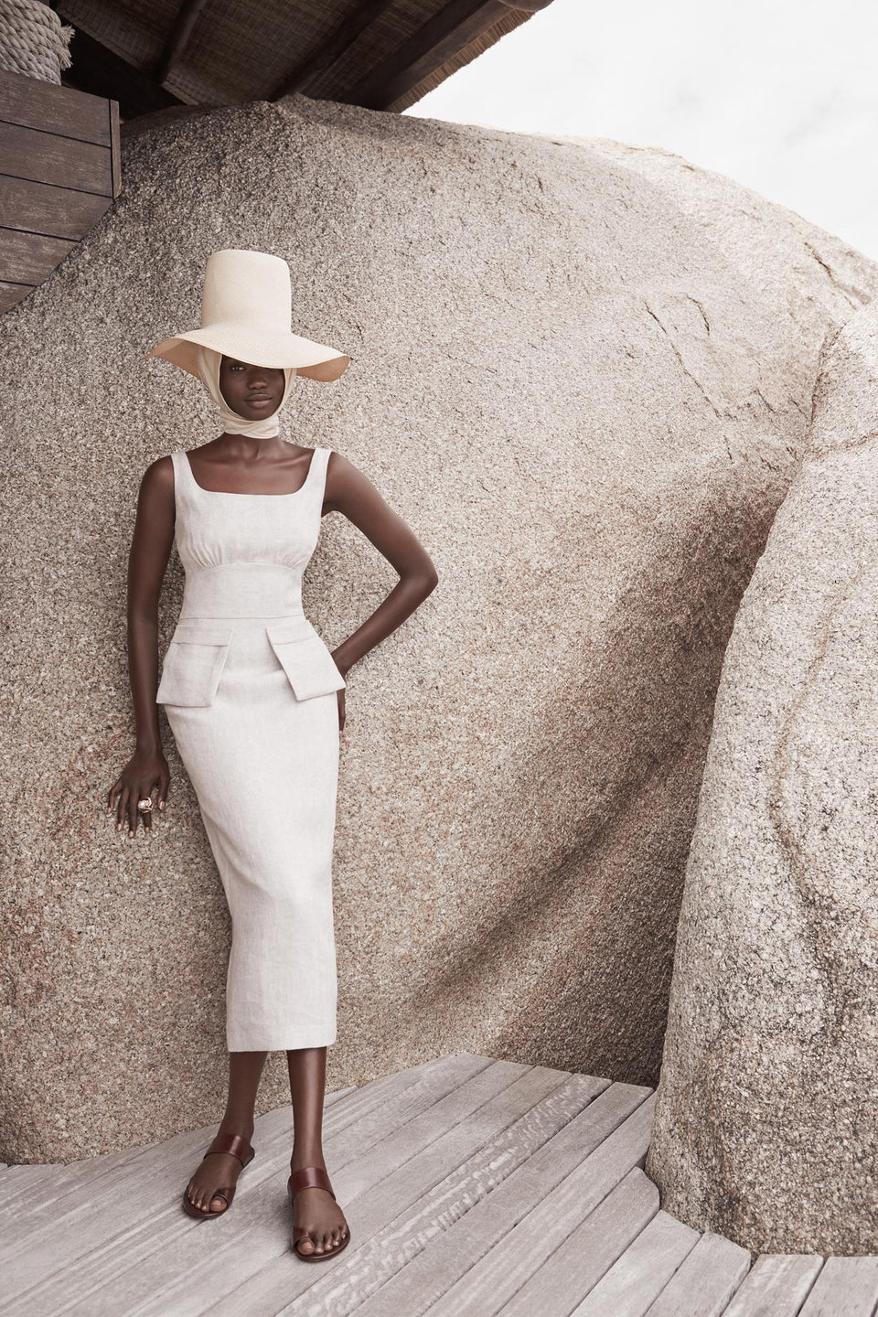 CARL KAPP SS2020 collection in Seychelles Six Senses Zil Pasyon |  Desroches dress
