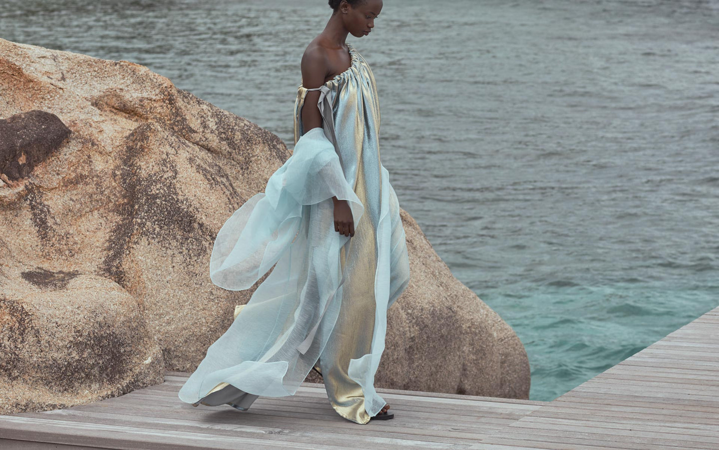 CARL KAPP SS2020 collection in Seychelles Six Senses Zil Pasyon | Indian Ocean Dress, Paradise Trench