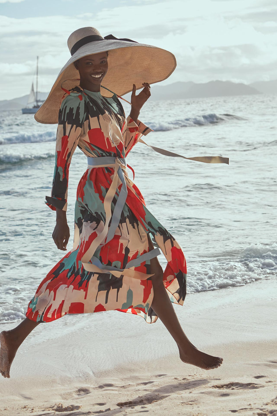 CARL KAPP SS2020 collection in Seychelles Six Senses Zil Pasyon | Fleur dress