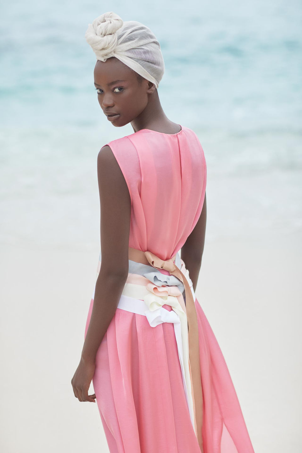 CARL KAPP SS2020 collection in Seychelles Six Senses Zil Pasyon | Palm dress