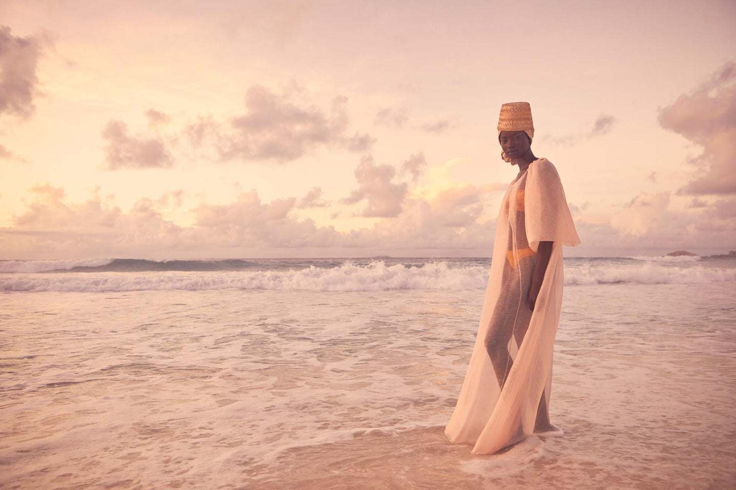 CARL KAPP SS2020 collection in Seychelles Six Senses Zil Pasyon | Mahe dress Misty rose