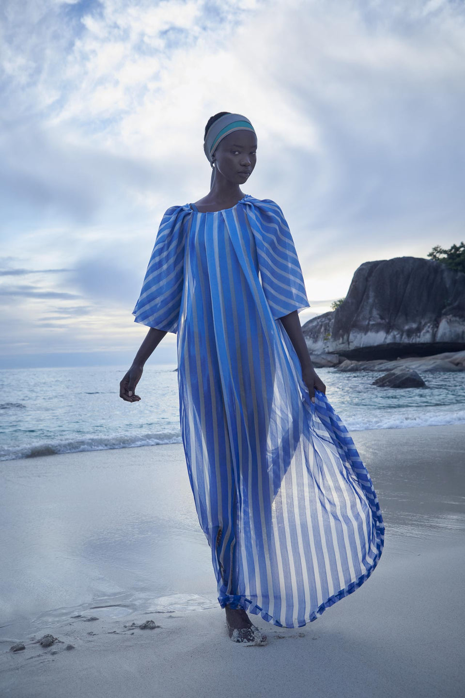 CARL KAPP SS2020 collection in Seychelles Six Senses Zil Pasyon | Mahe dress