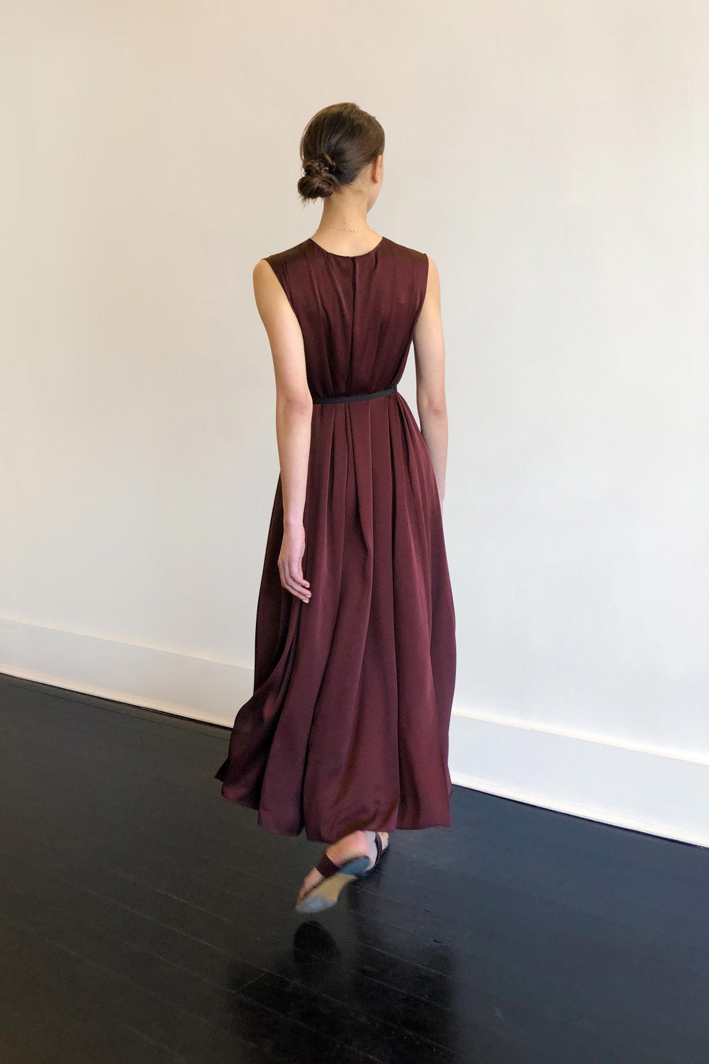 Fashion Designer CARL KAPP collection | Palm Onesize Fits All cocktail dress Maroon | Sydney Australia