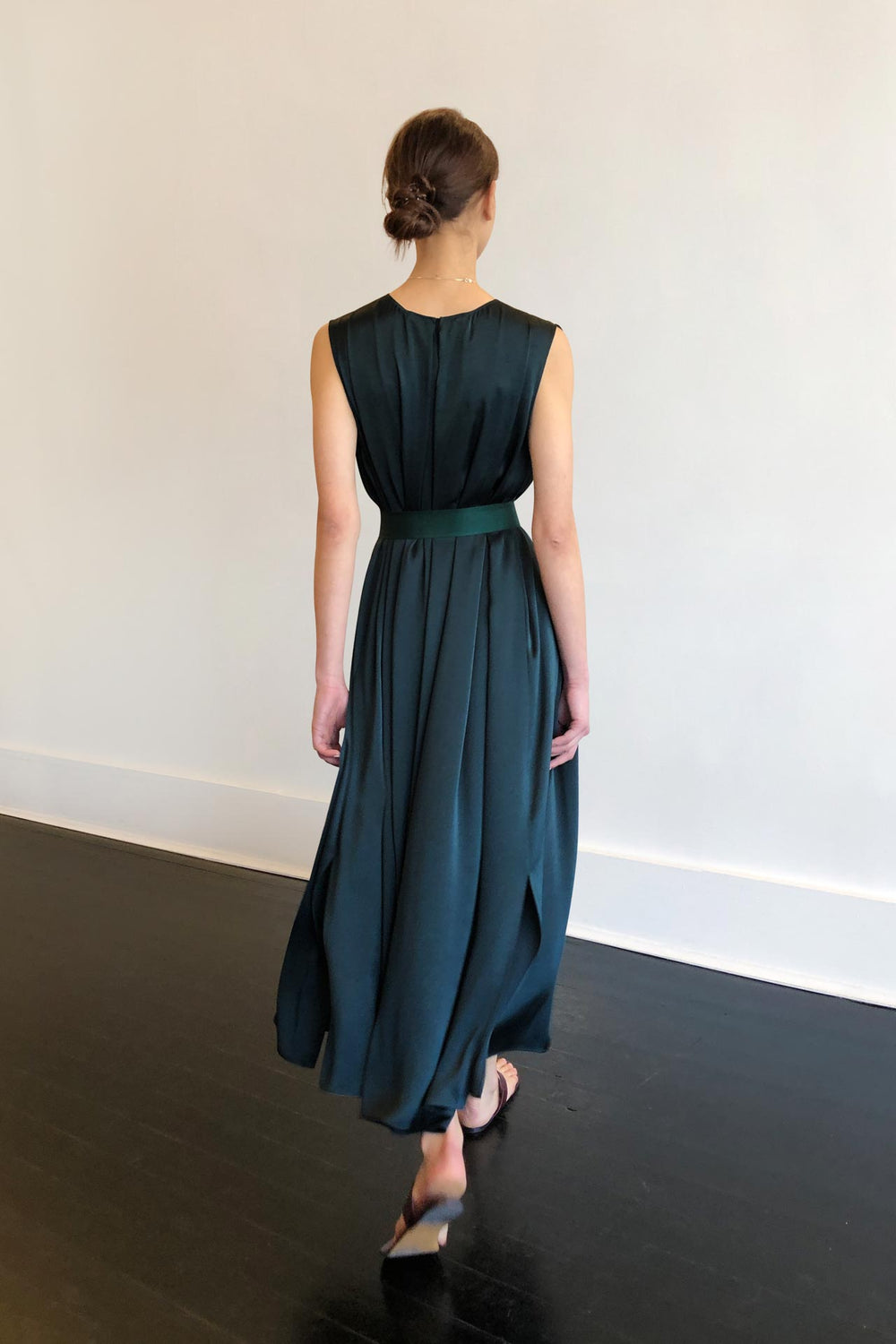 Fashion Designer CARL KAPP collection | Palm Onesize Fits All cocktail dress Green | Sydney Australia