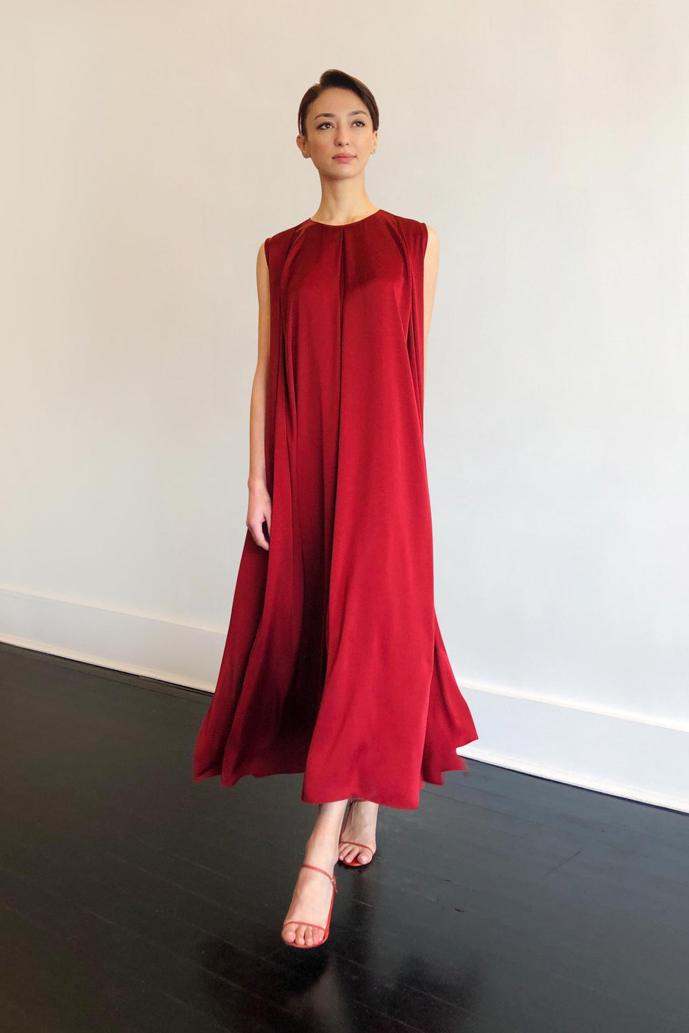 Fashion Designer CARL KAPP collection | Palm Onesize Fits All cocktail dress Red | Sydney Australia