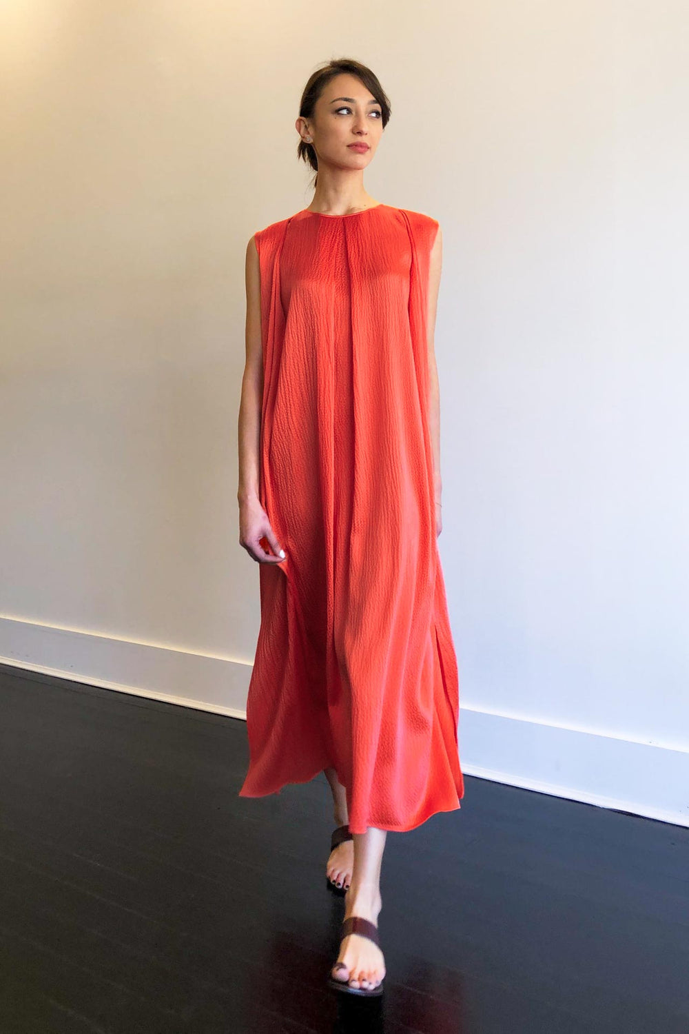 Fashion Designer CARL KAPP collection | Anne Onesize Fits All Silk Dress Red | Sydney Australia