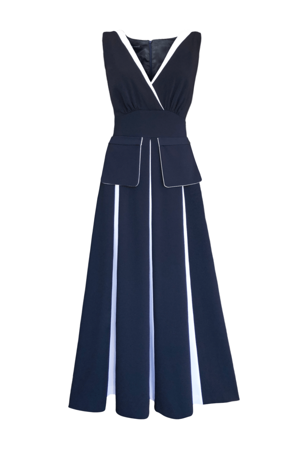 Fashion Designer CARL KAPP collection | Bella Dress Navy | Sydney Australia