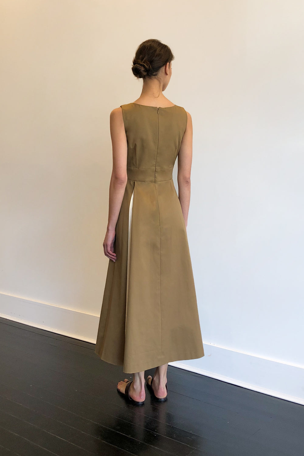 Fashion Designer CARL KAPP collection | Coco de Mer Dress Brown | Sydney Australia