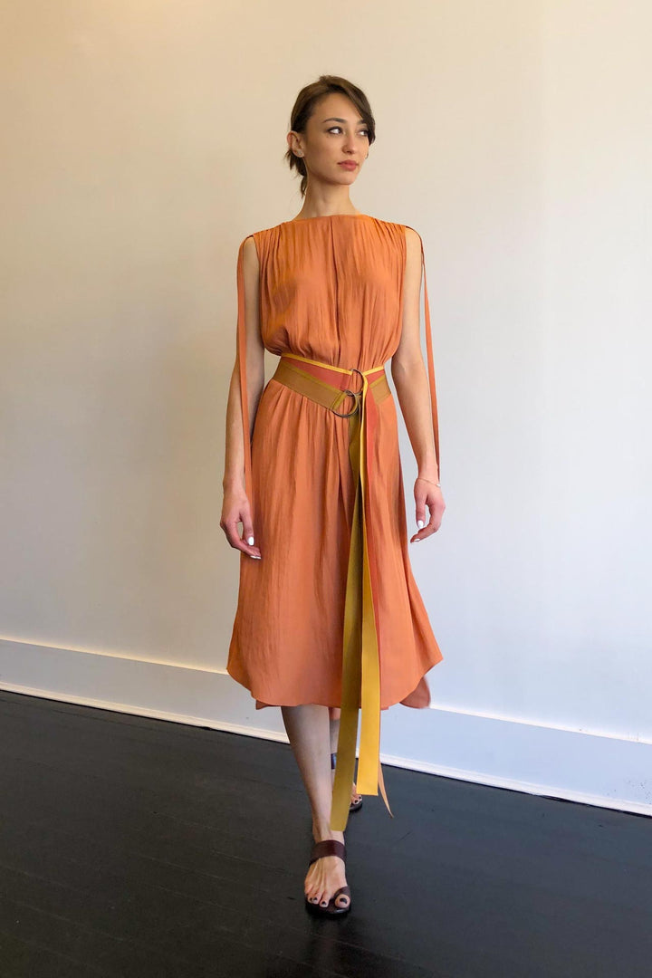 Fashion Designer CARL KAPP collection | Creole Onesize Fits All Dress Orange | Sydney Australia