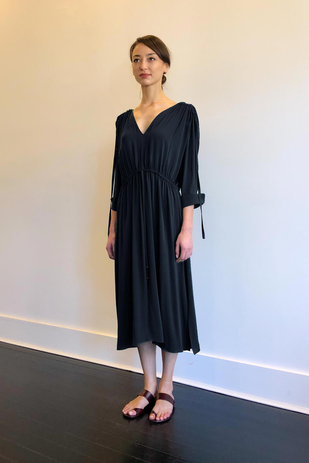 Fashion Designer CARL KAPP collection | Denise Onesize Fits All Dress Navy | Sydney Australia
