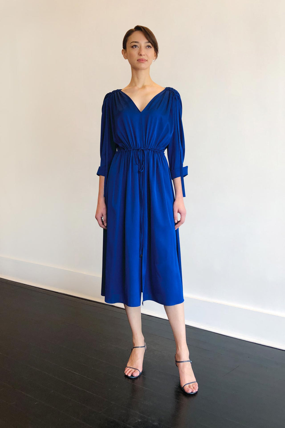 Fashion Designer CARL KAPP collection | Denise Dress Blue | Sydney Australia