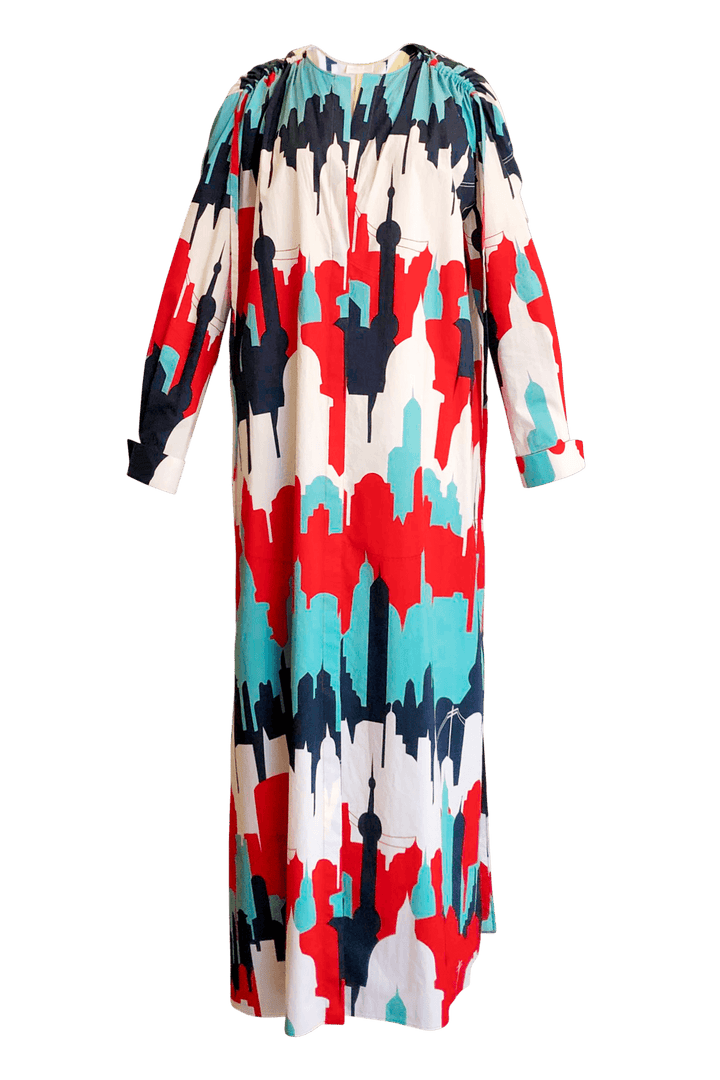 Fashion Designer CARL KAPP collection | Fleur Onesize Fits All Cotton Print dress | Sydney Australia