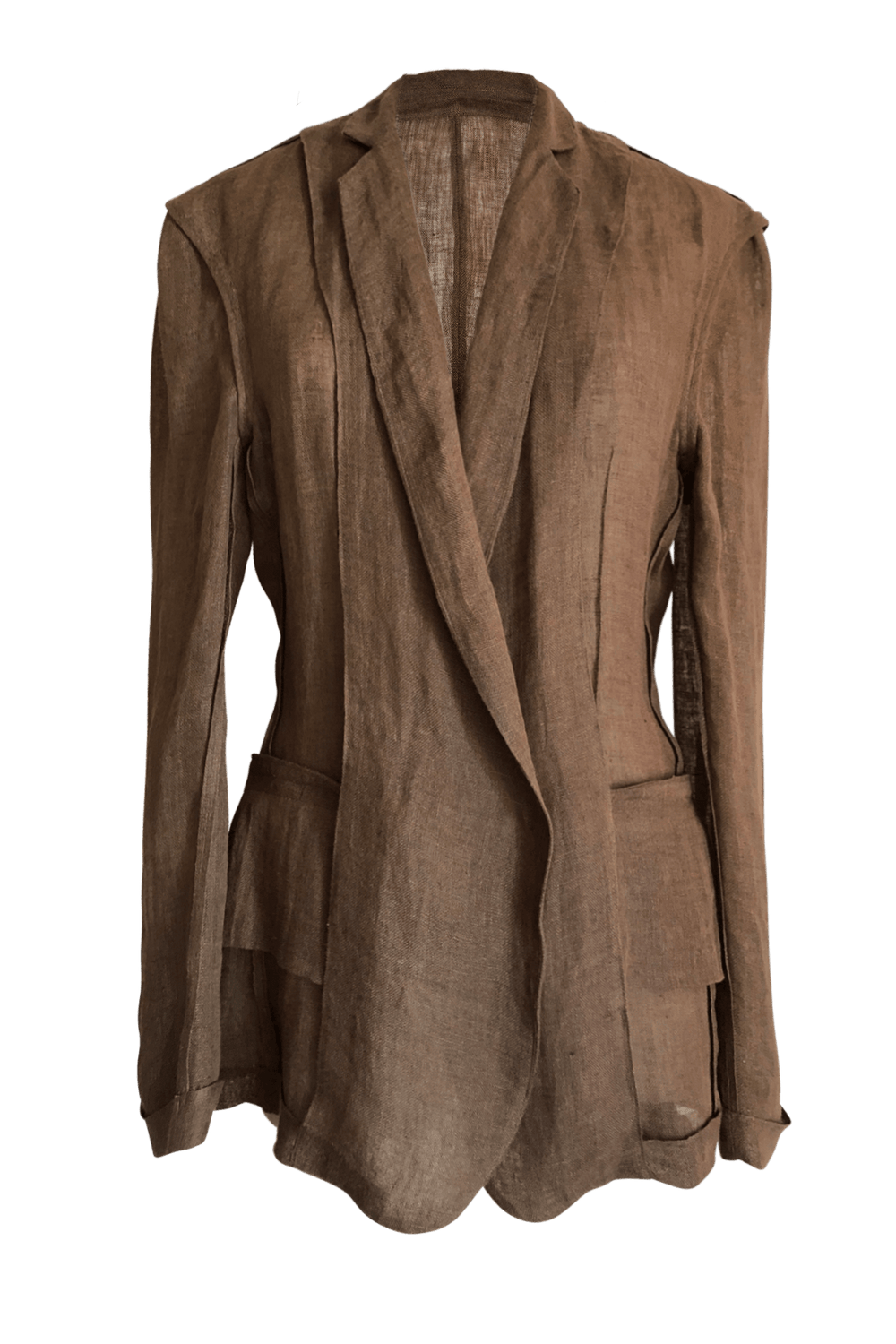 Fashion Designer CARL KAPP collection | Jet oversized brown linen Jacket | Sydney Australia