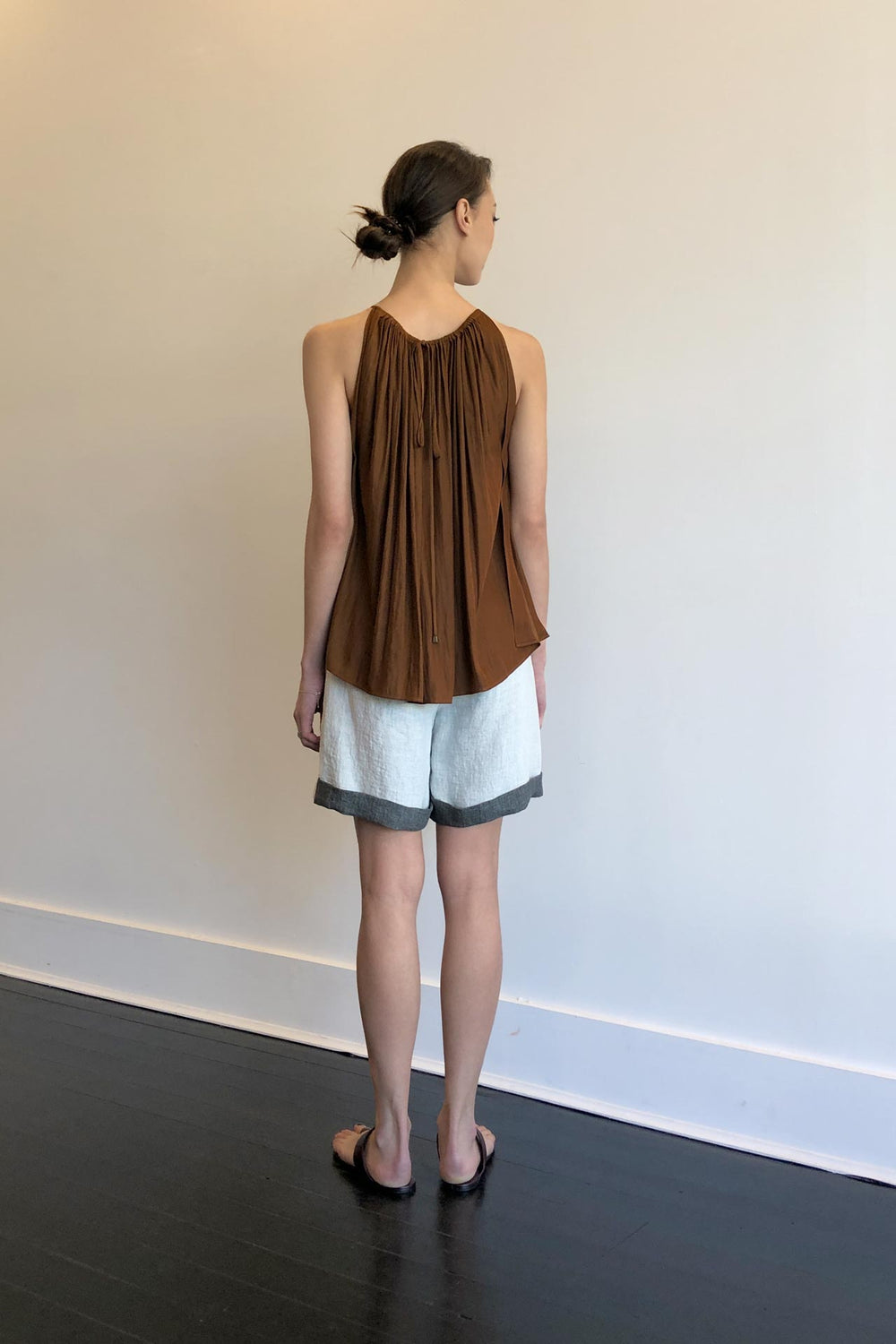 Fashion Designer CARL KAPP collection | Mila Onesize Fits All cocktail Top Brown | Sydney Australia
