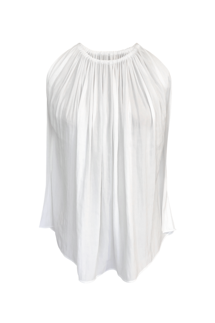 Fashion Designer CARL KAPP collection | Mila Onesize Fits All cocktail Top White | Sydney Australia