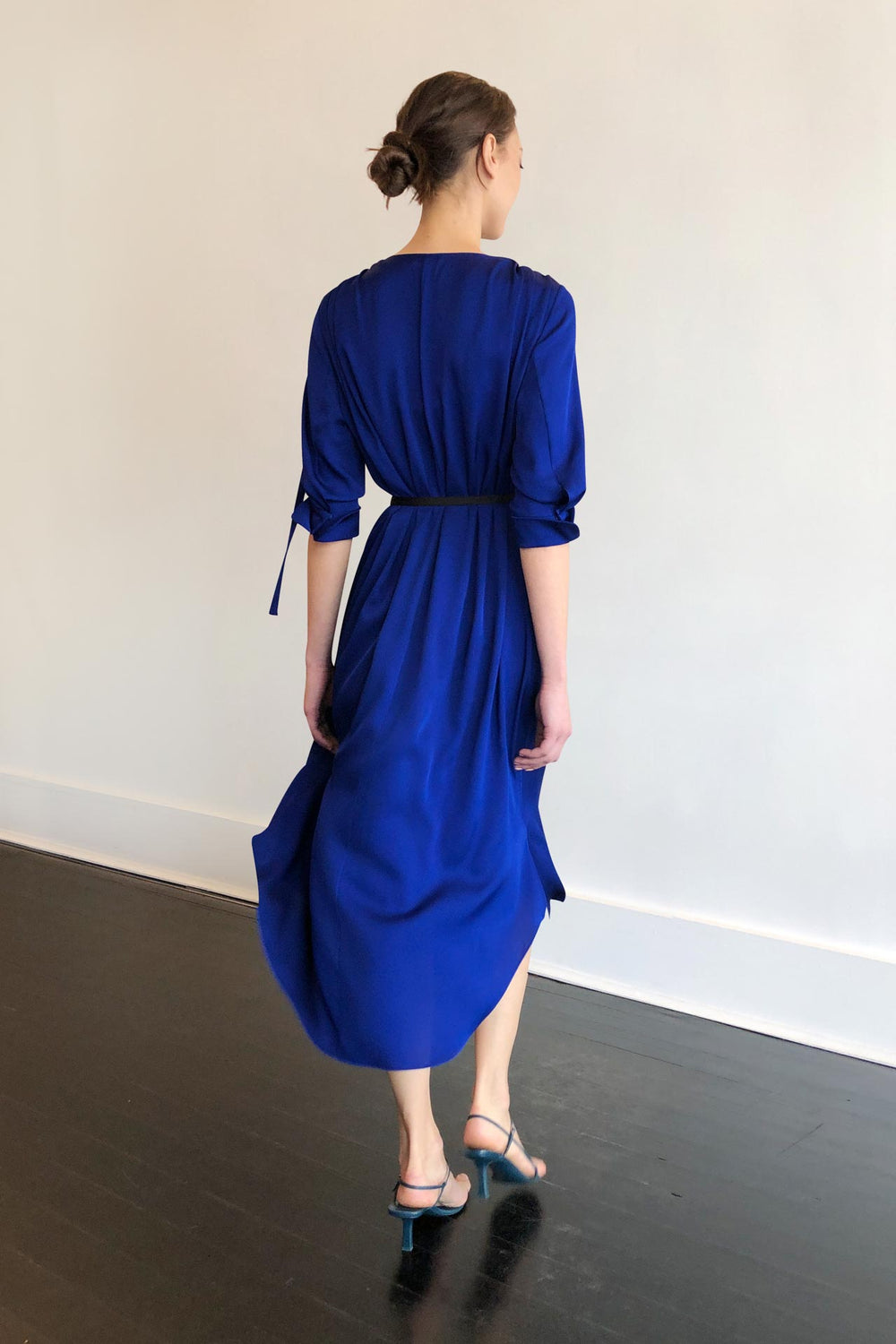 Fashion Designer CARL KAPP collection | Martini Onesize Fits All silk dress Electric Blue | Sydney Australia