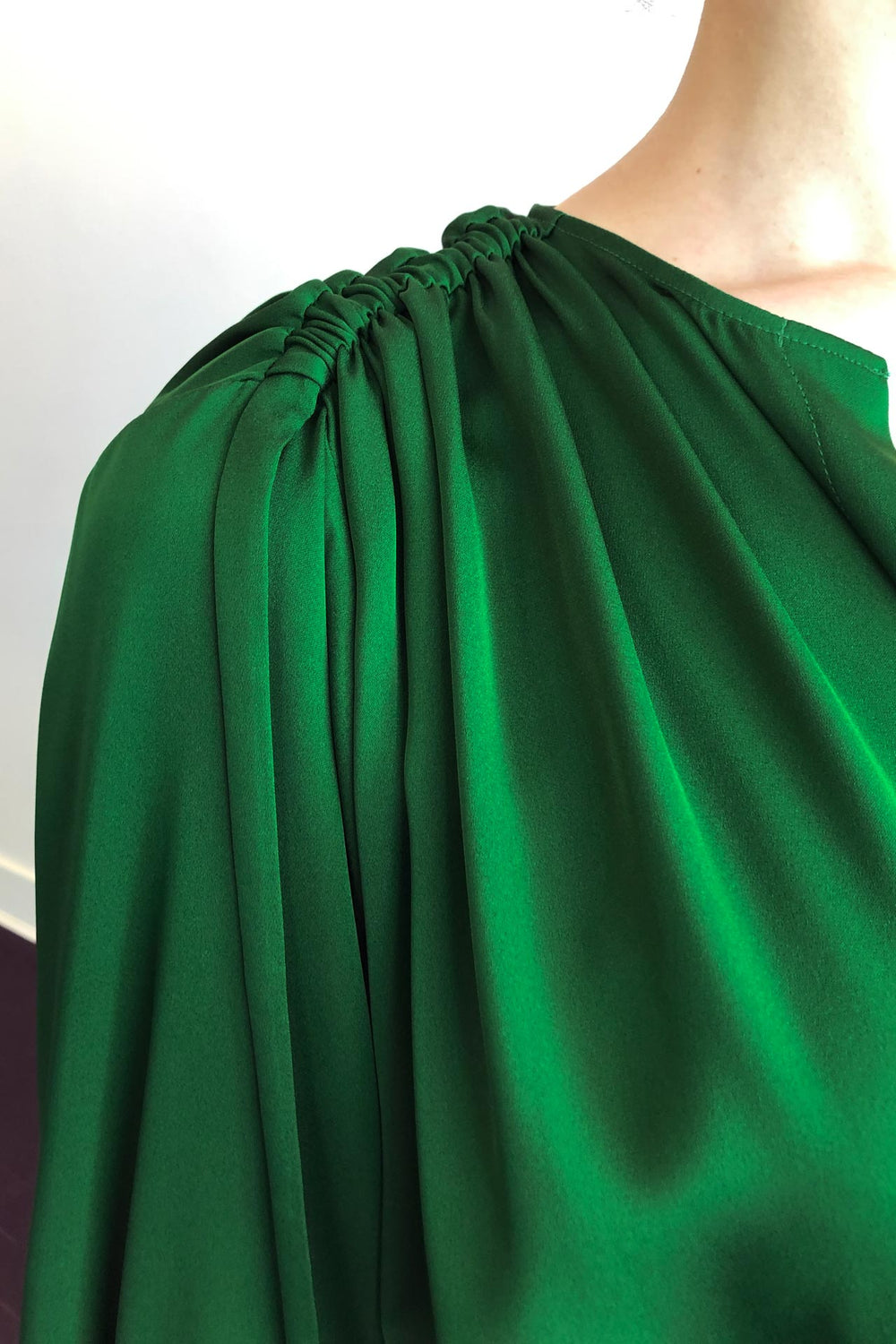 Fashion Designer CARL KAPP collection | Martini Onesize Fits All silk dress Emerald Green | Sydney Australia