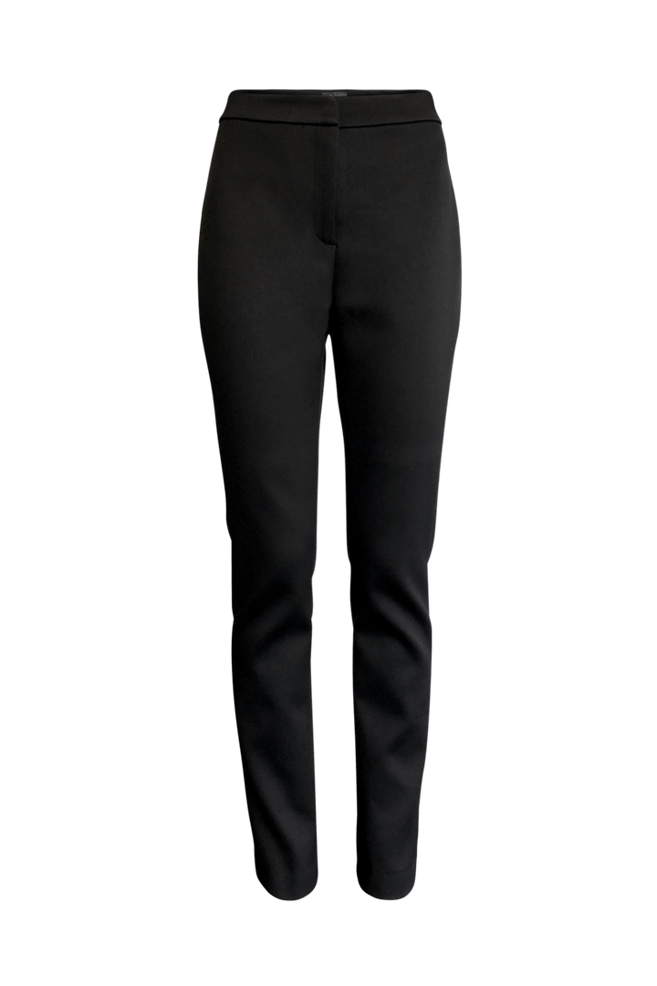 Fashion Designer CARL KAPP collection | Obsidian Tailored Structured Black Satin Trousers, Pants | Sydney Australia