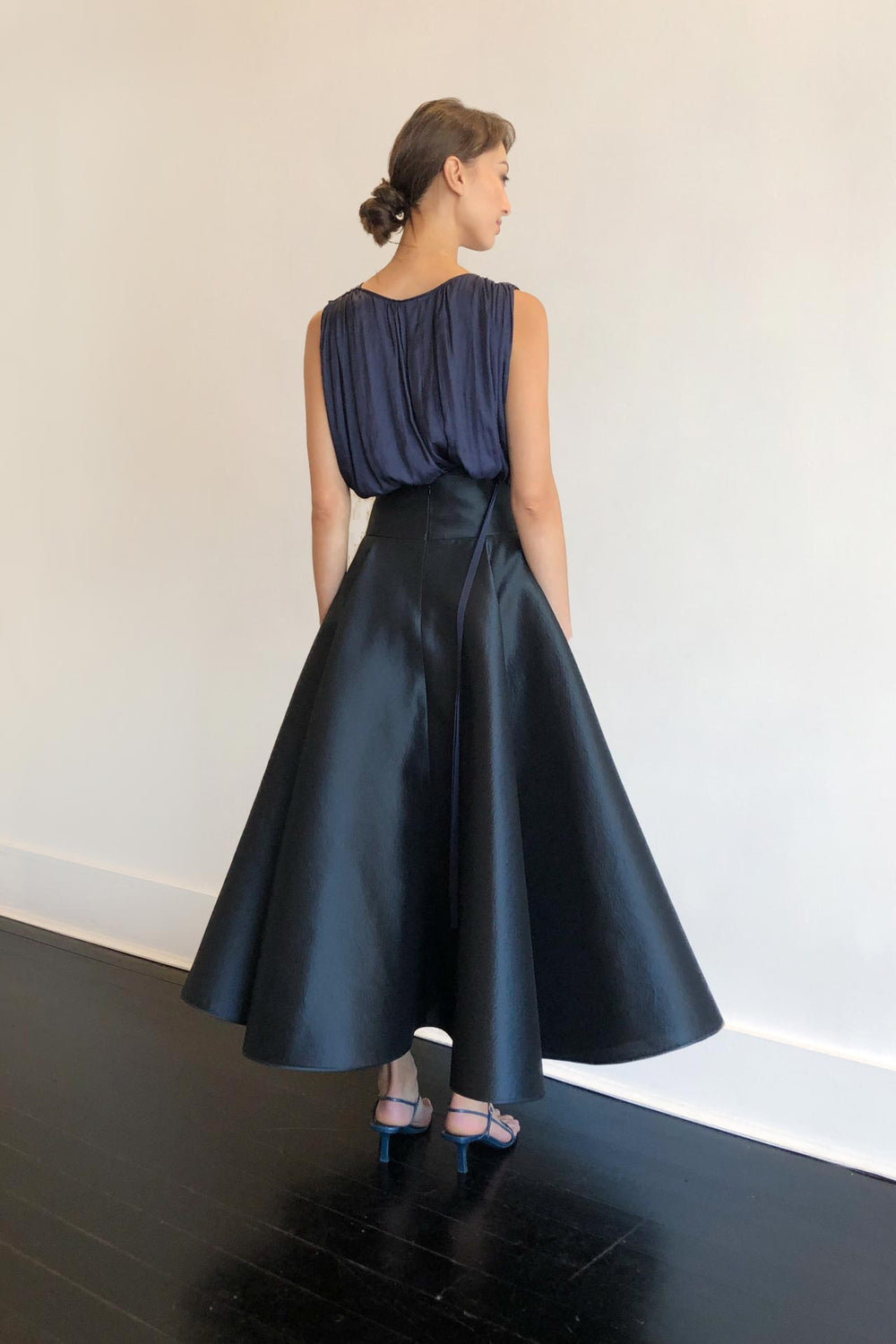Fashion Designer CARL KAPP collection | Ophelia Silk Navy Formal Skirt | Sydney Australia