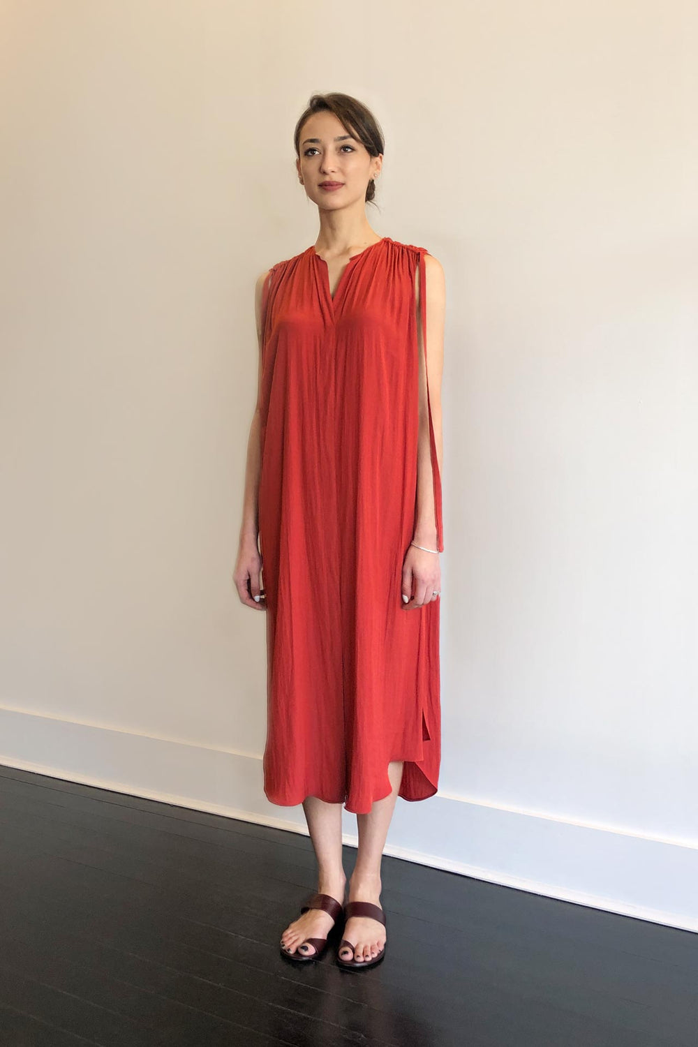 Fashion Designer CARL KAPP collection | Patatran Onesize Fits All cocktail dress Orange | Sydney Australia