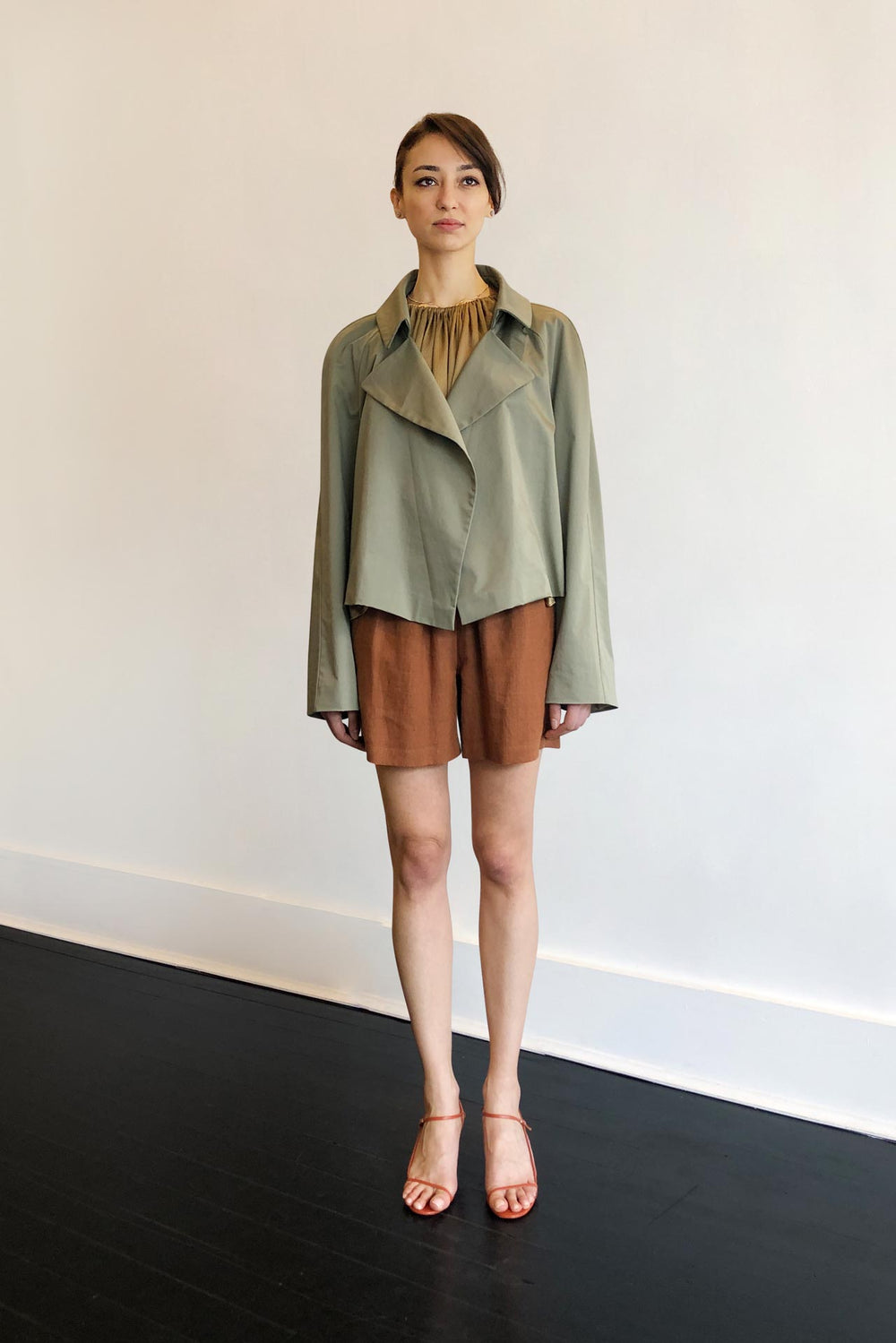 Fashion Designer CARL KAPP collection | Tortoise Casual oversized cotton Jacket | Sydney Australia