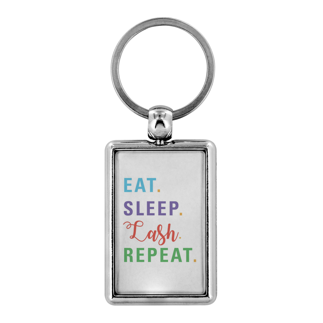 Eat Sleep Lash Repeat Key Chain Keychain - BrandLove101