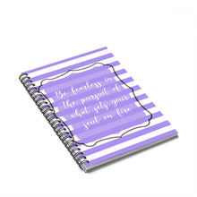 Load image into Gallery viewer, Purple Motivional Spiral Notebook - Ruled Line - BrandLove101