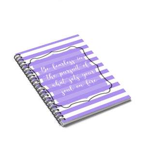 Purple Motivional Spiral Notebook - Ruled Line - BrandLove101