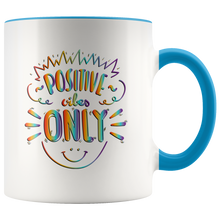 Load image into Gallery viewer, Positive Vibes Only Rainbow Tie Dye Mug - 7  Colors - BrandLove101