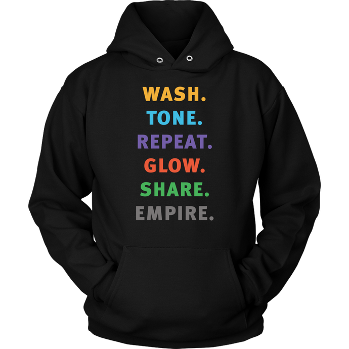 Wash Tone Repeat Conversation Starter Hoodie