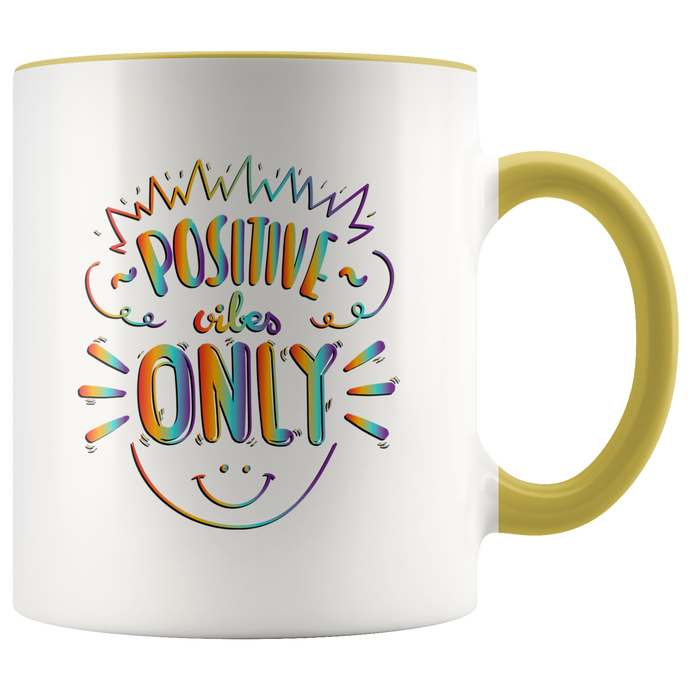 Positive Vibes Only Rainbow Tie Dye Mug - 7  Colors - BrandLove101