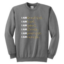 Load image into Gallery viewer, I Am All Things Beautiful Youth Crewneck Sweatshirt - 9 Colors - BrandLove101