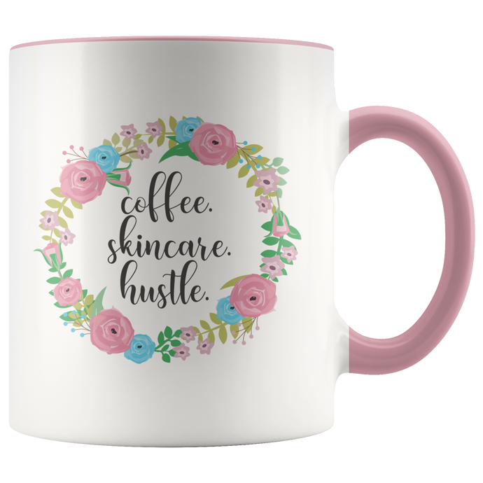 Coffee Skincare Hustle CEO Boss Babe Mug - 11 oz - 7 Colors - BrandLove101