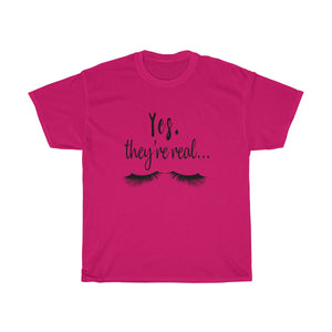 Yes They Are They're Real Unisex Cotton Tee - BrandLove101