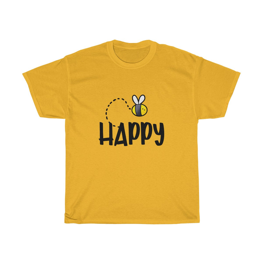 Bee Be Happy Unisex Heavy Cotton Tee - BrandLove101