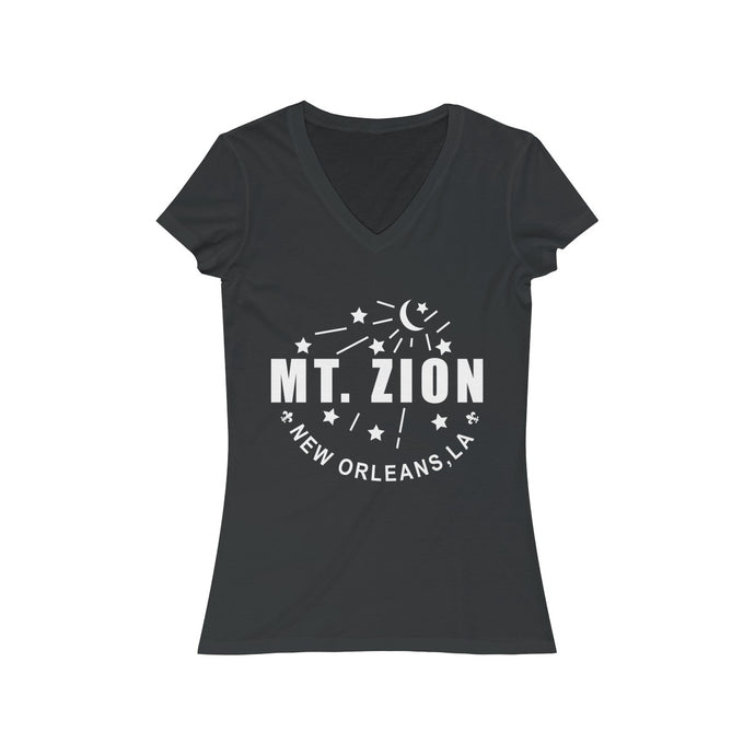 Mt Zion Nola Women's Jersey Short Sleeve V-Neck Tee - More Colors - BrandLove101