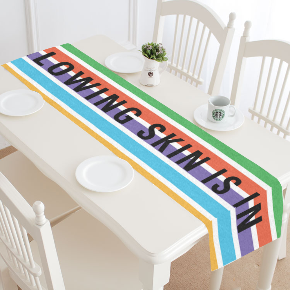Glowing Skin Is In Table Runner -  14 x 72 - BrandLove101
