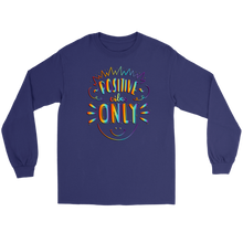 Load image into Gallery viewer, Positive Vibes Only Rainbow Tie Dye Long Sleeve Tee - BrandLove101