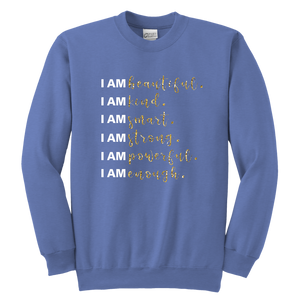 I Am All Things Beautiful Youth Crewneck Sweatshirt - 9 Colors - BrandLove101