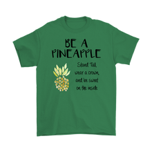 Load image into Gallery viewer, Be a Pineapple and Stand Tall Scoop Neck Short Sleeve Unisex T Shirt - BrandLove101