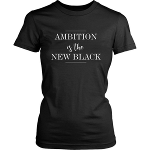 Ambition is The New Black  Graphic Tee Shirts Graphic T Shirt Scoop Neck - - Select Colors - BrandLove101