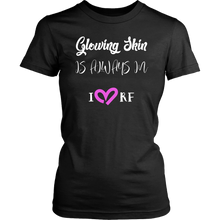 Load image into Gallery viewer, Glowing Skin Is Always In Graphic Tee Scoop Neck - More Colors - BrandLove101